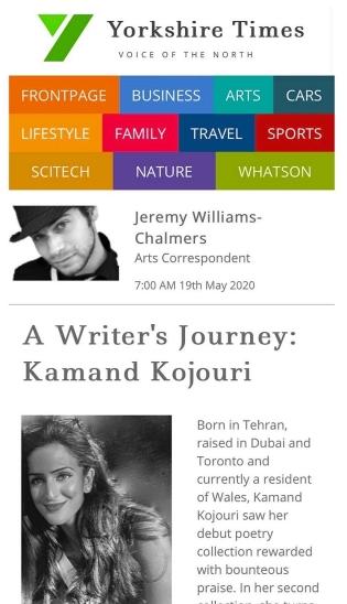 Yorkshire Times - Kamand Kojouri