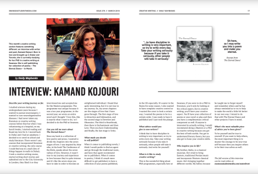 Waterfront Magazine - Kamand Kojouri
