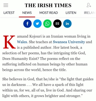 The Irish Times-Kamand Kojouri