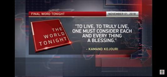 Kamand Kojouri - The World Tonight News